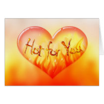hot, lust, love, passion, infatuation, romance, feeling, valentine, Card with custom graphic design