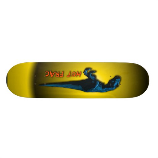 Hot Frac Designs by Leslie Harlow - DinoBoard3 Skate Board