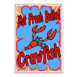 Hot Fresh Boiled Crawfish Sign Custom Invitation