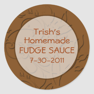 Hot Fudge Sauce or Chocolate Sauce Labels