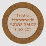 Hot Fudge Sauce or Chocolate Sauce Labels Stickers