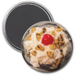 Hot Fudge Sundae - Dessert - Delicious - Yummy Refrigerator Magnet