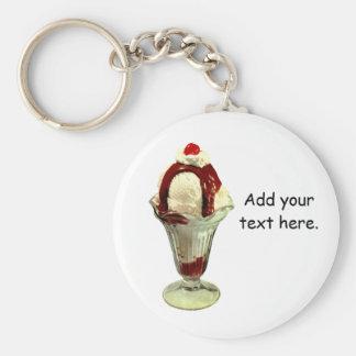 Hot Fudge Sundae Retro Ice Cream Keychain