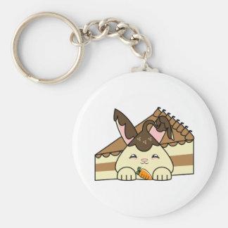 Hot Fudge Vanilla Hopdrop And Cake Basic Round Button Keychain