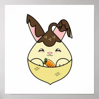 Hot Fudge Vanilla Hopdrop Mini Cone Print