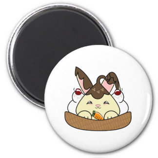 Hot Fudge Vanilla Hopdrop Waffle Sundae 2 Inch Round Magnet