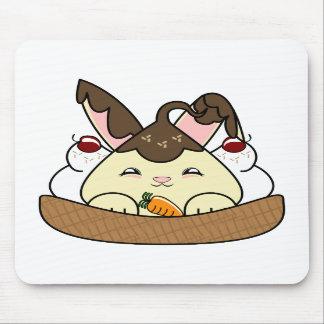 Hot Fudge Vanilla Hopdrop Waffle Sundae Mouse Pad