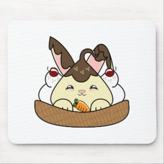 Hot Fudge Vanilla Hopdrop Waffle Sundae Mouse Pads