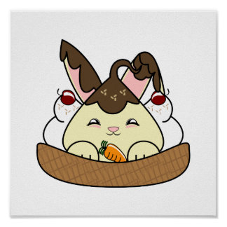 Hot Fudge Vanilla Hopdrop Waffle Sundae Poster