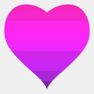 Hot Fuschia Pink Striped Heart Stickers