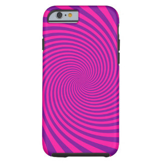 Hot Fushcia Swirl Tough iPhone 6 Case