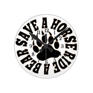 HOT Gay Bear Pride Save A Horse Ride A Bear- Clock