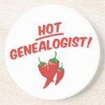 Hot Genealogist Beverage Coasters