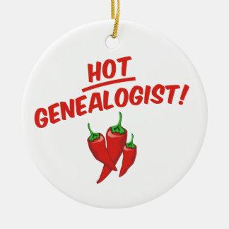 Hot Genealogist Ceramic Ornament