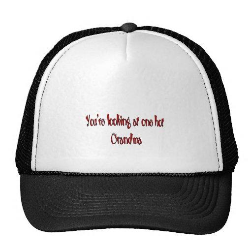 Hot grandparents trucker hat
