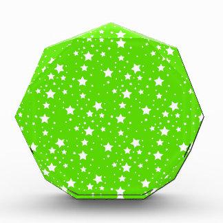 Hot Green and White Stars Acrylic Award