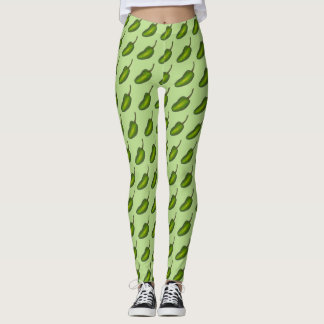 Hot Green Jalapeño Pepper Jalapenos Foodie Legging