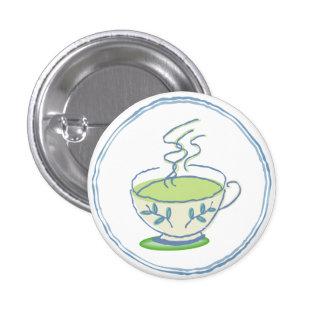 Hot Green Tea Button