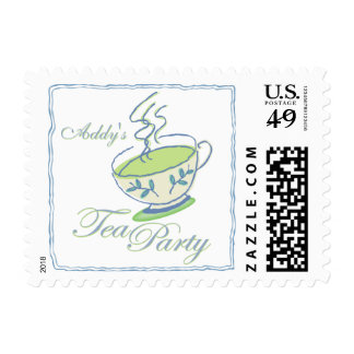 Hot Green Tea Party Postage