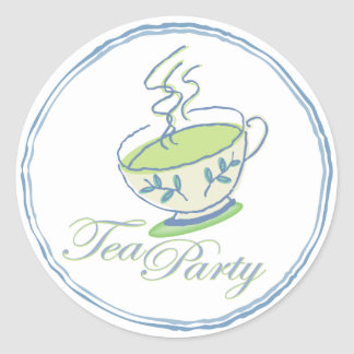 Hot Green Tea Party Stickers