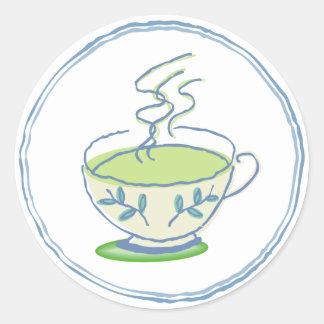 Hot Green Tea Stickers