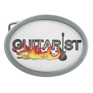 Hot Guitarist Guitar Player Belt Buckle
