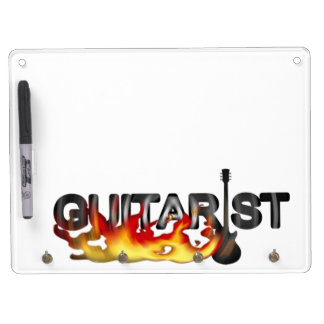 Hot Guitarist Guitar Player Dry Erase Board With Keychain Holder