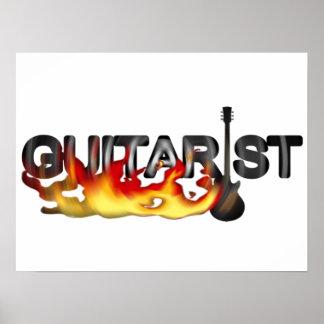Hot Guitarist Guitar Player Poster