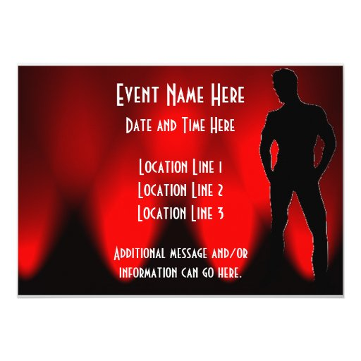 Hot Guy Party Invitations II