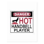 Hot Handbell Player Postcard