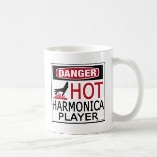 Hot Harmonica Player Classic White Coffee Mug