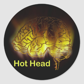 Hot Head Classic Round Sticker