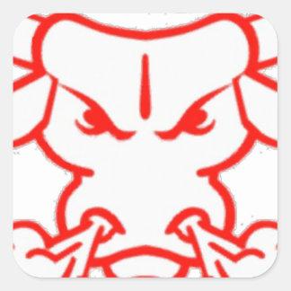 hot head square sticker