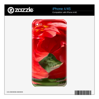 Hot Hibiscus Decal For The iPhone 4