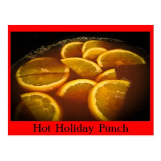 Hot Holiday Punch Recipe Postcard