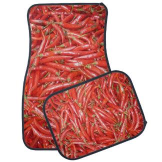 hot hot chillies car floor mat
