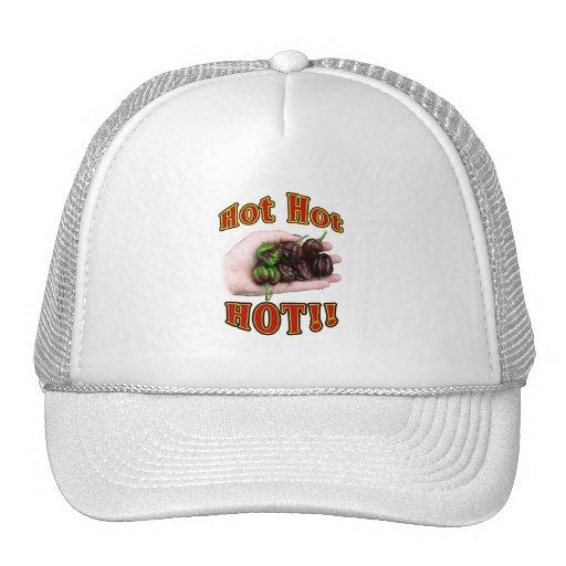 Hot Hot HOT Chocolate Habanero Peppers in Hand Trucker Hat