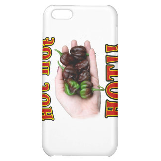 Hot Hot HOT Chocolate Habanero Peppers in Hand Cover For iPhone 5C
