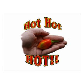 Hot Hot HOT Single Habanero Pepper in Hand Postcard