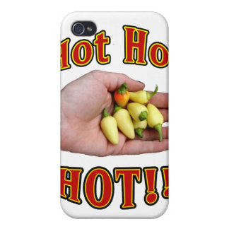 Hot Hot HOT White Habanero Peppers in Hand Covers For iPhone 4