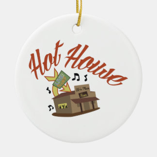 Hot House Double-Sided Ceramic Round Christmas Ornament