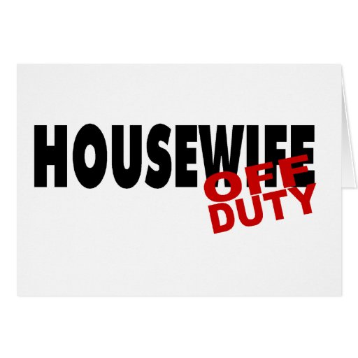 Hot Housewife (Blk) Greeting Cards