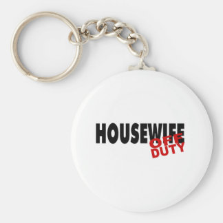 Hot Housewife (Blk) Keychain