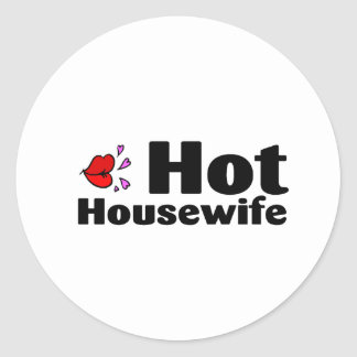 Hot Housewife Classic Round Sticker