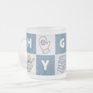 Hot & hygge mug (frosted glass)