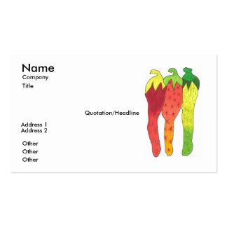 Hot Impression Business Card Template