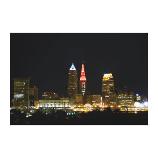 (Hot in Cleveland Lights) Cleveland, OH Print Stretched Canvas Prints