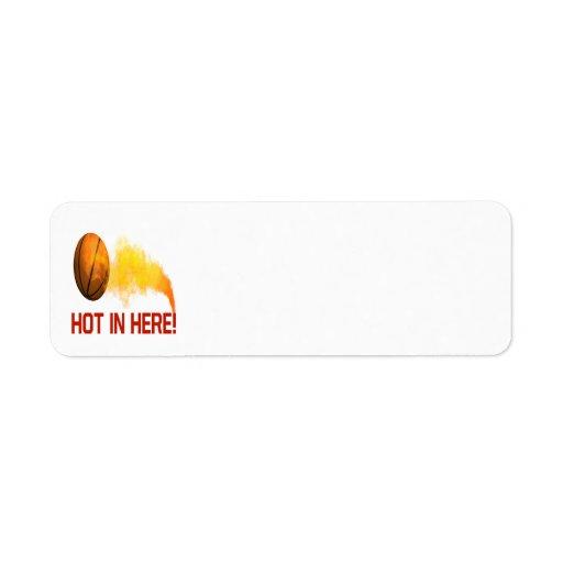Hot In Here Return Address Label