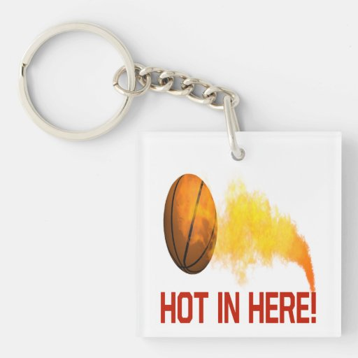 Hot In Here Single-Sided Square Acrylic Keychain