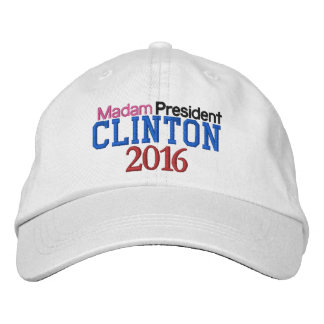 Hot in Pink Madam President CLINTON 2016 Embroidered Baseball Hat